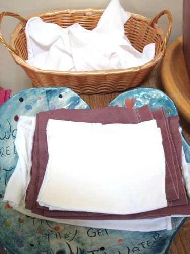 t-shirt sleeve napkins