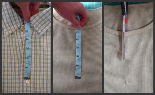 measure the neckline to cut