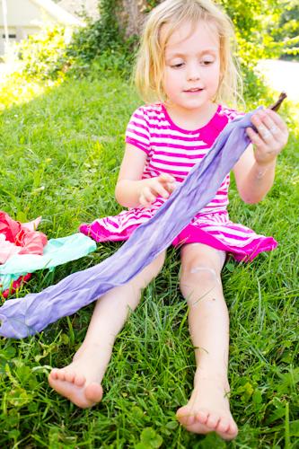 Dye Silk with Kool-Aid