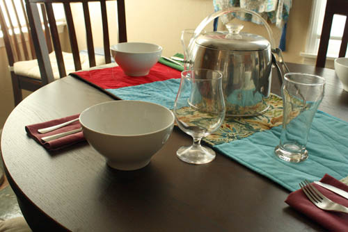 diy home table runner