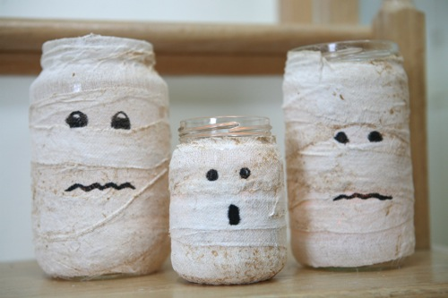 Mummy Candle Holders