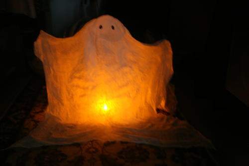 DIY Halloween Decorations: Light-Up Ghost