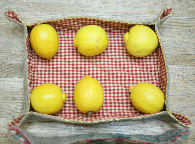 Fabric Lemon Tray