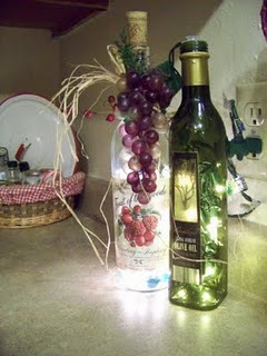 Diy upcycled wine bottle ideas page 5 of 5 crafting a for Wine bottle night light diy