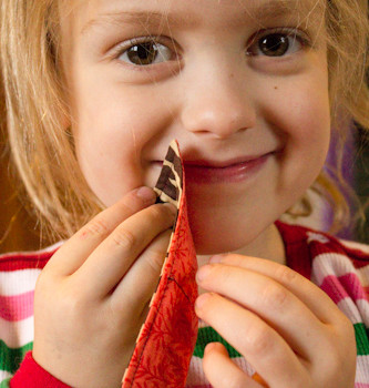 how to sew cloth napkins for your kid's lunch box
