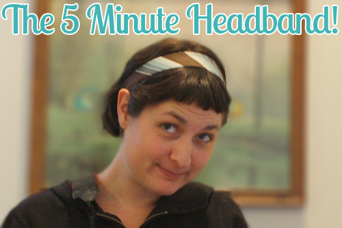 the 5 minute headband