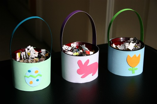 Upcycled Candle Holder into a Mini Easter Basket