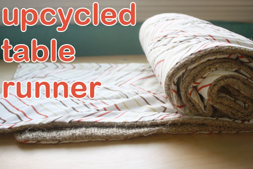 how to make a repurposed table runner crafting a green world