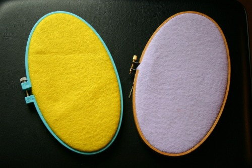 DIY Embroidery Hoop Easter Eggs