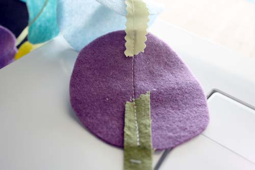 transitioning ribbon for felt streamers