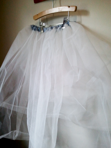 petticoat sewn from the underskirt of a Prom dress