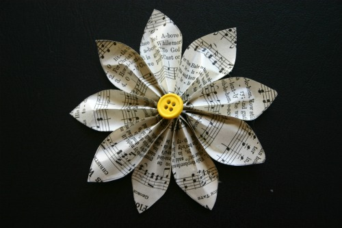 Recycled Paper Mother's Day Brooch