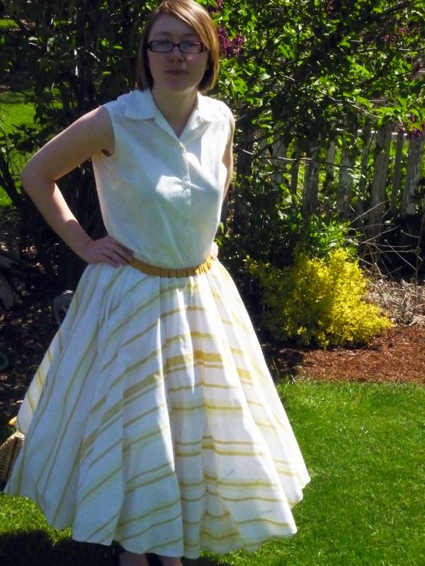 finished circle skirt
