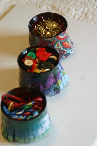 Upcycle Candle Holders into Colorful Organizers