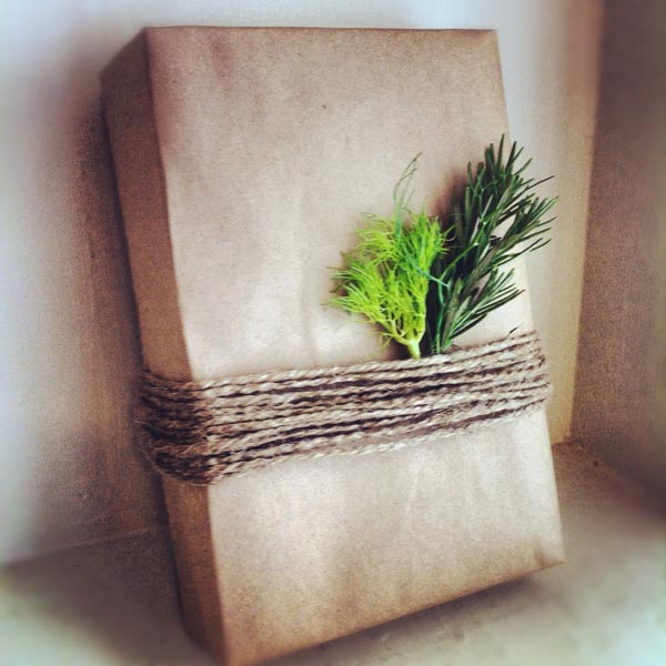 herb gift wrap for dad