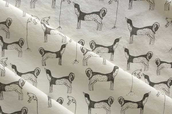 organic cotton print dogs