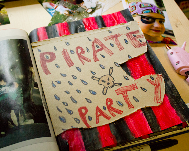 Pirate Birthday Party smash book pages