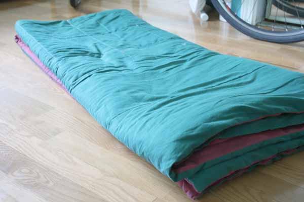 folded comforter
