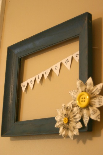 How To: Eco-Friendly Picture Frame Wreath