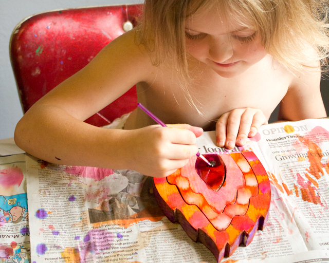 How-to: Let Your Kids Turn Their Unfinished Wooden Toys into Painted and Sealed Wooden Toys