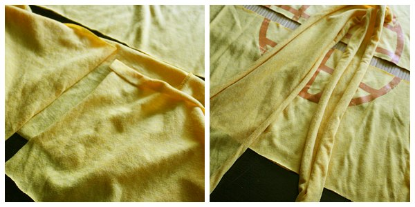 Cut and Stretch T-Shirt Scarf