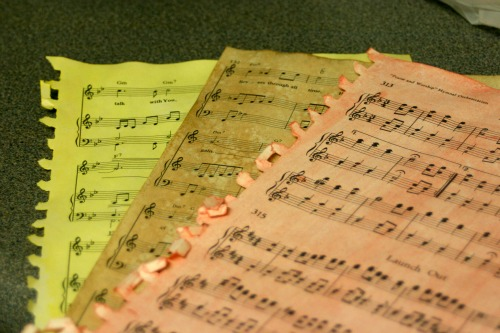 stained-sheet-music