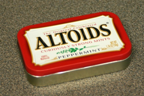 Business Card Holder from an Altoids Tin