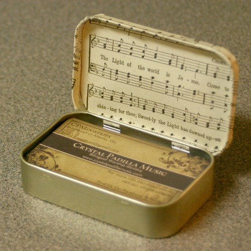 Business Card Holder From An Altoids Tin Crafting A Green World