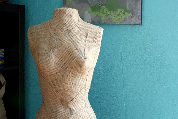 burlap repaired mannequin