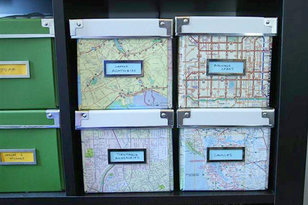 map boxes