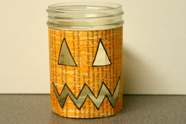 Pumpkin Luminary Jar