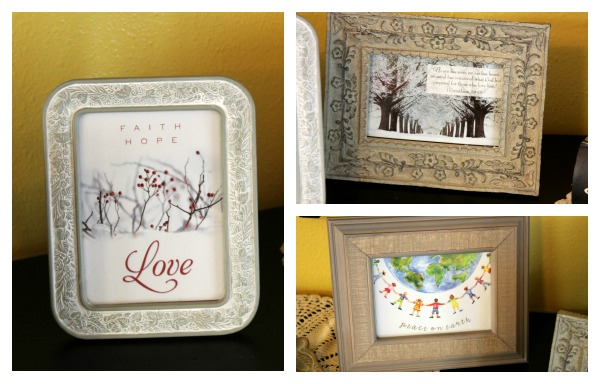 Recycling Christmas Cards: Framed Art