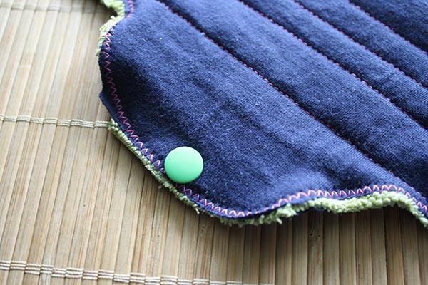 cloth pad snaps