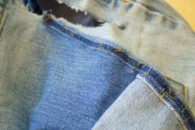 use a seam ripper to open up interfering pockets and seams