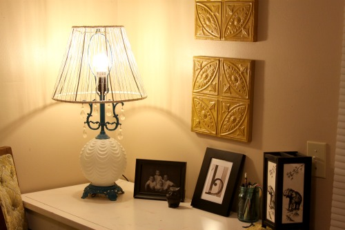 Thrift Store Lampshade Makeover!