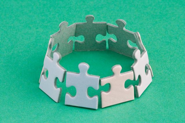 puzzle pieces bracelet image via Shutterstock