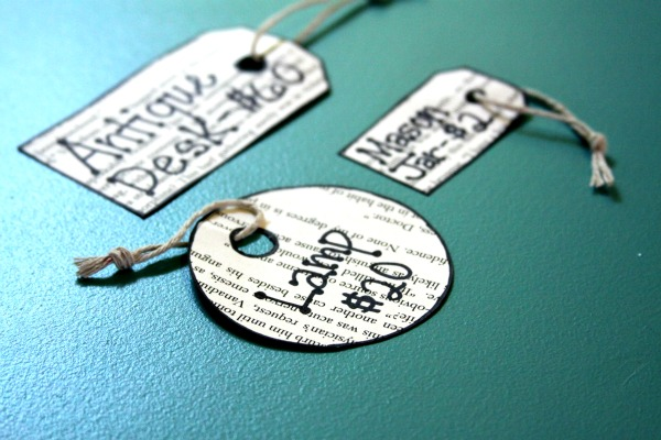 Craft Booth Ideas: Recycled Paper Price Tags