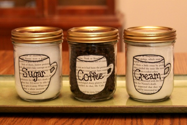 Recycled DIY: Sugar, Cream, and Coffee Canisters