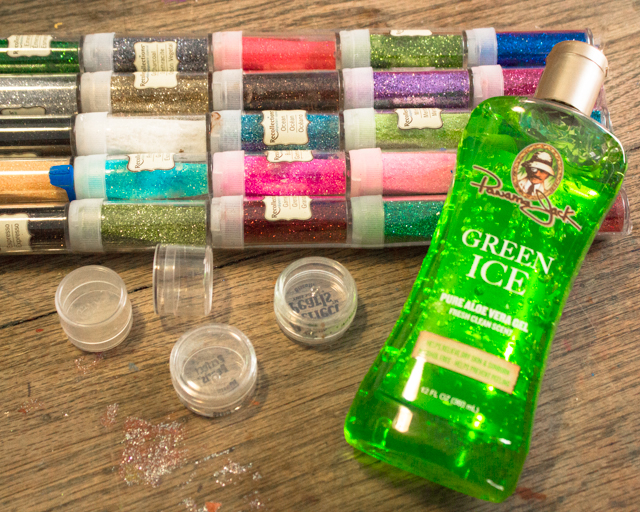ingredients for DIY body glitter