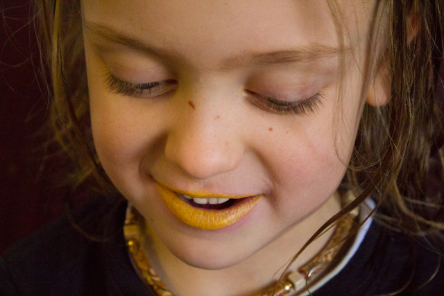 My kid wanted yellow lipstick; I found it on etsy.