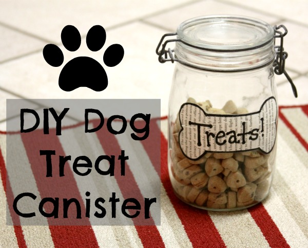 DIY Dog Treat Canister