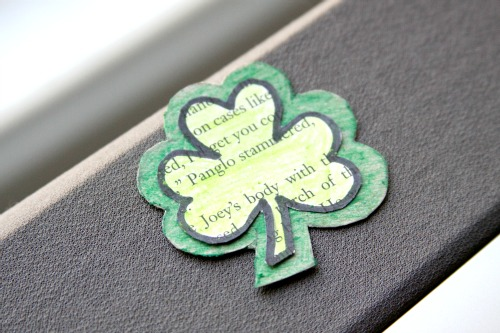 How To: Recycled Shamrock Brooch