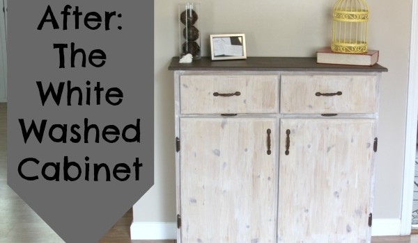 Painting Furniture: The White Washed Cabinet - Crafting a Green World