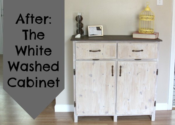 Painting Furniture The White Washed Cabinet Crafting a Green World