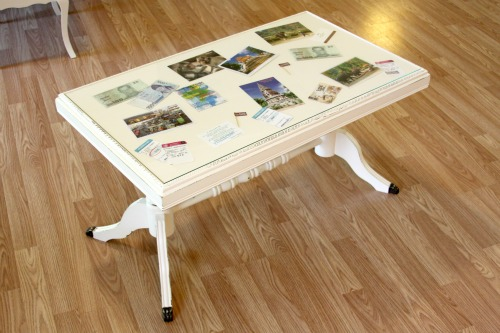 "How To: ""Scrapbook"" Coffee Table"