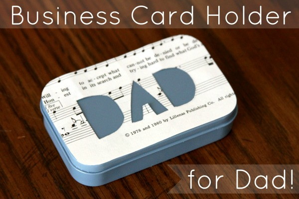 Upcycling Altoids Tins: A Business Card Holder for Dad