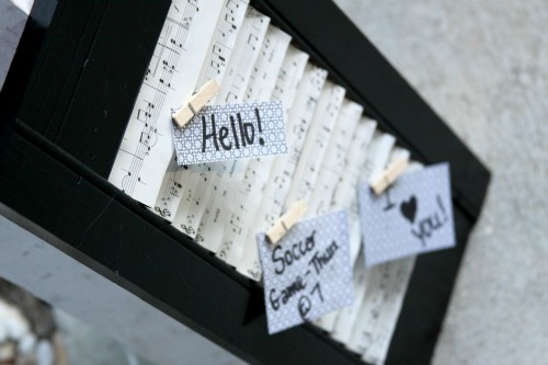 How To: Upcycled Shutter Memo Board