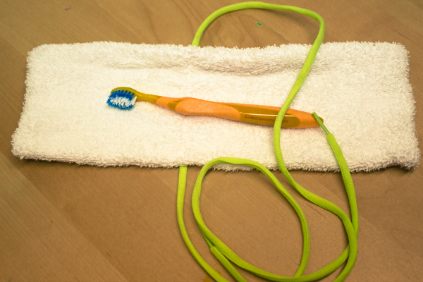 DIY travel toothbrush holder from a washcloth (4 of 4)