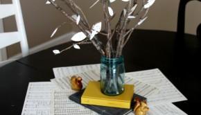 Thanksgiving Crafts: Paper Leaf Centerpiece