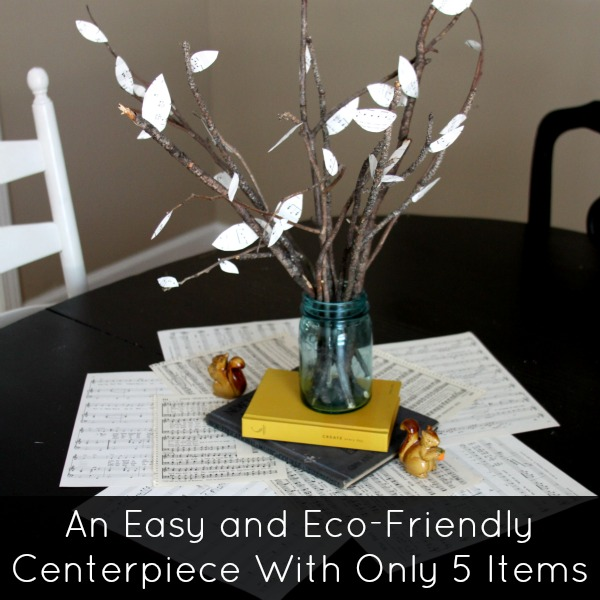 Thanksgiving Crafts: Paper Leaf Centerpiece